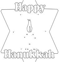 Hanukkah Star Dot-to-Dot Puzzle
