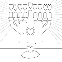 Heart Menorah Dot-to-Dot Puzzle